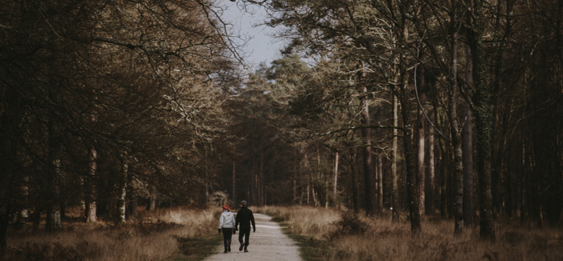 Goboony New Forest H2 Couple Walking Woods Love