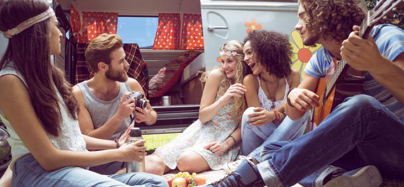 Goboony Edinburgh Festival Motorhome H2 Friends Celebrate Music Camping