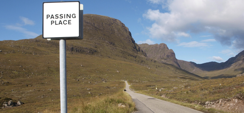 Goboony Edinburgh Festival Motorhome H2 Scotland Sign Road Trip