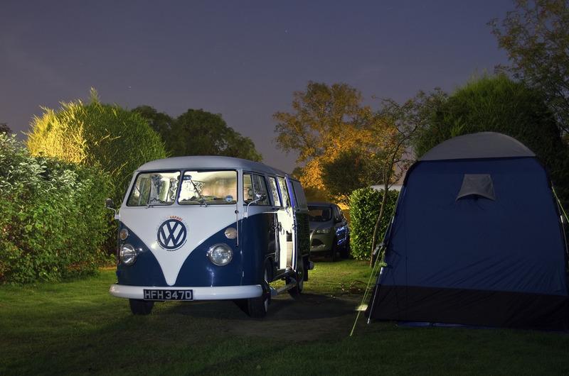 Verlichte camper
