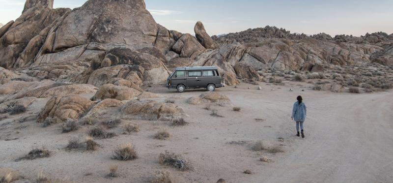Goboony Women Motorhome Solo Travel H2 Desert Campervan