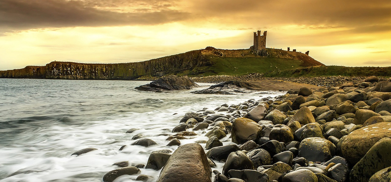 Goboony Dunstanburgh Castle Coast Northumberland H2 Beach