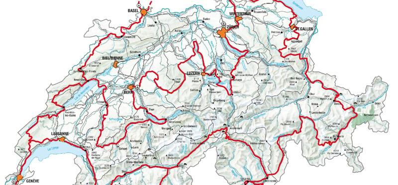 Goboony - Met de camper naar Zwitserland - Route