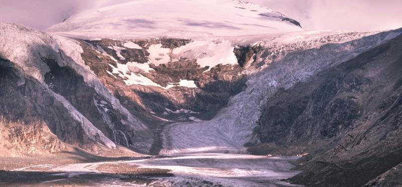 Goboony met de camper Oostenrijk gletsjer