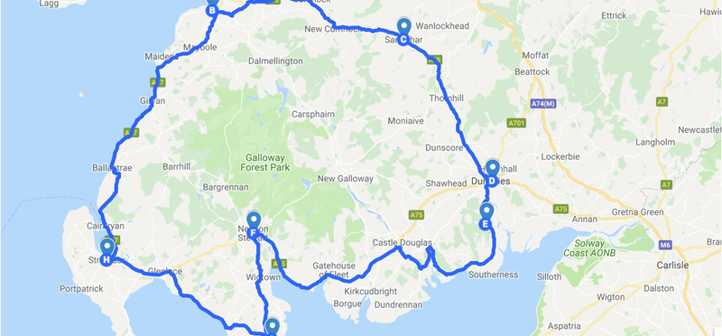 Goboony South West Coastal 300 SWC H2 Map Route Plan