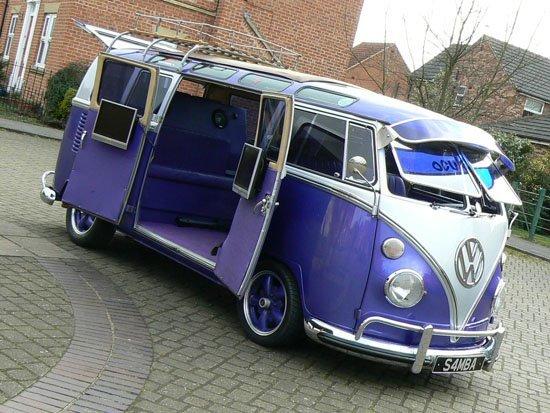 Volkswagenbusje paars