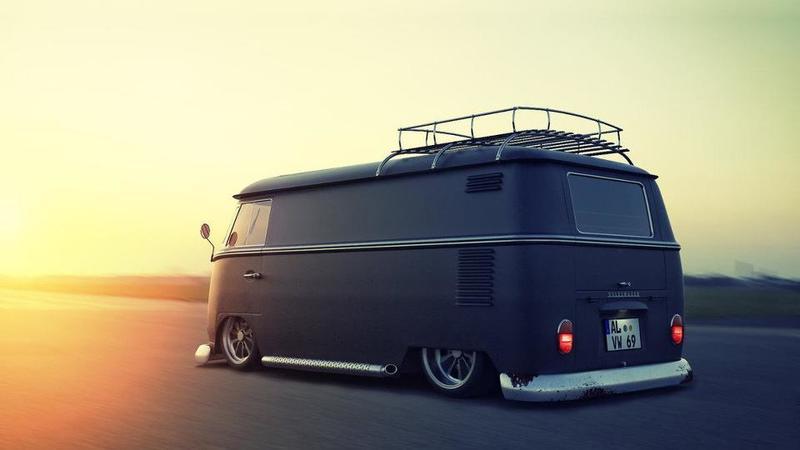 Volkswagenbusje mat zwart