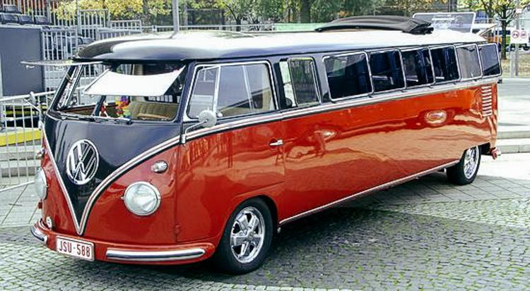 Volkswagenbusje rood - zwart