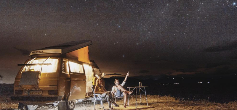 Goboony Campervan South America Road Trip H2 Night Star Sky