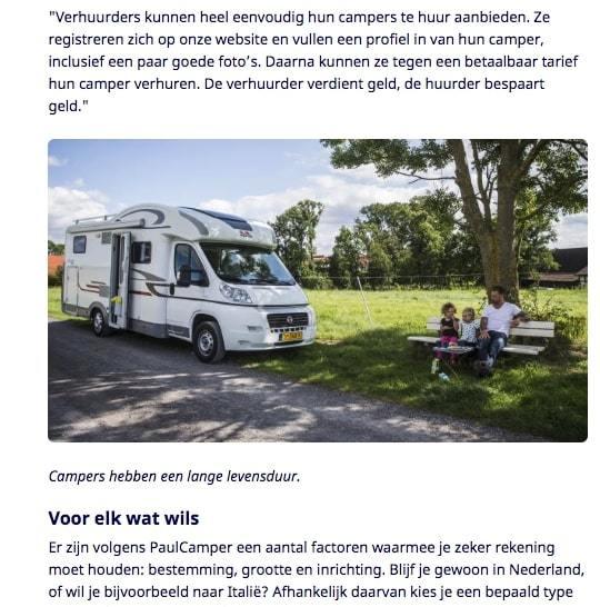 Goboony nu.nl Een camper van een particulier huren
