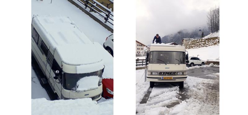 Goboony Guus en Sandra pak sneeuw