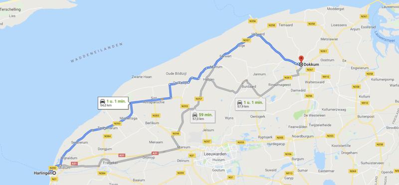 Goboony met de camper naar Friesland route