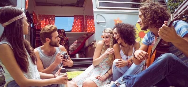 Goboony beste muziek roadtrip hippie camper