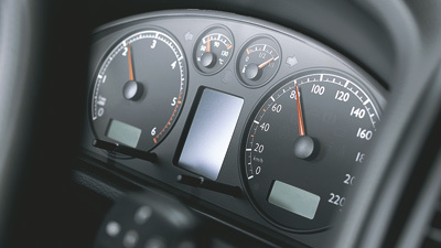 Snelheidsmeter en kilometerteller