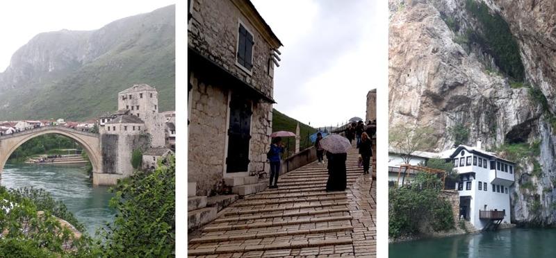 Goboony Guus en Sandra in Oost Europa Stari Most brug
