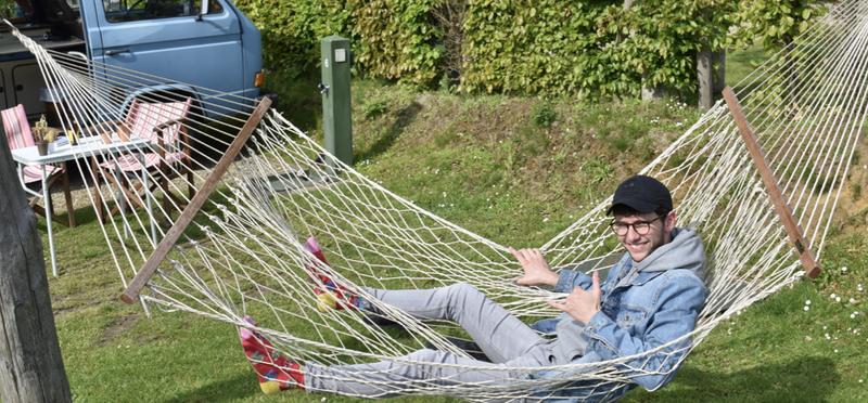 Goboony Met camper naar Zuid-Limburg hangmat