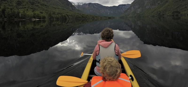 Goboony Lex Sandra Slovenië Bohinj kayak
