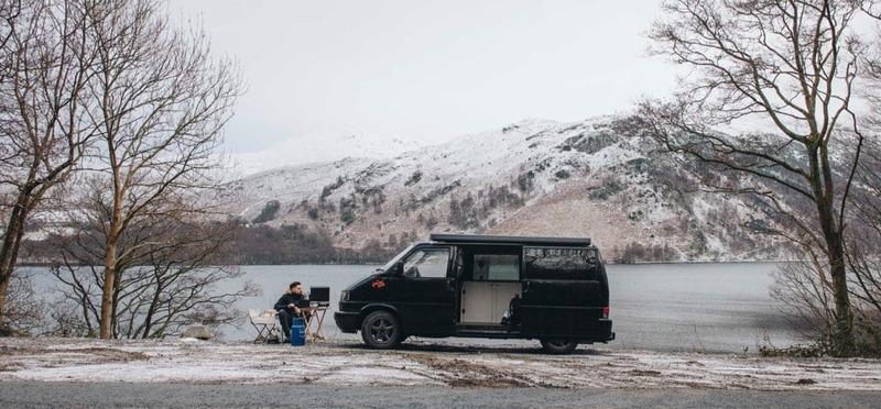 Goboony Wintercamping Nederland camper sneeuw