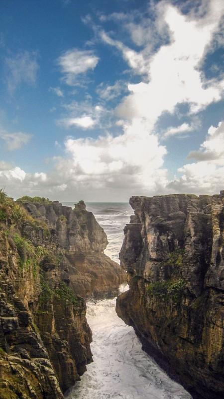 Camper huren in Nieuw Zeeland Pancake Rocks
