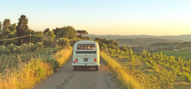 Goboony Top Campings Toscane VWbus landweg