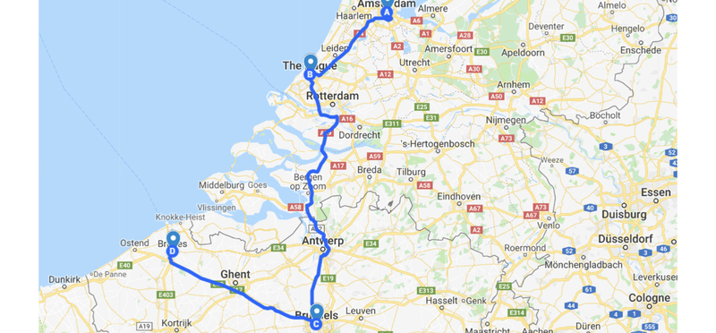 Goboony Campervan Europe Netherlands Belgium H2 Road Trip