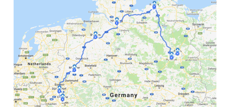 Goboony Germany Road Trip H2 Autobahn Route