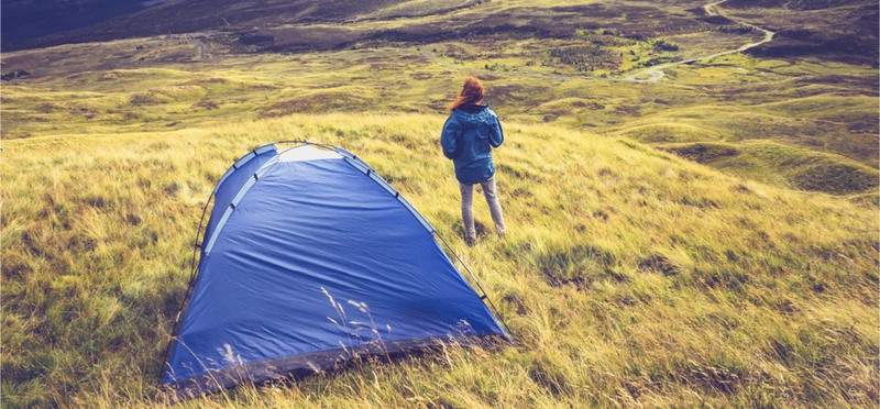 Camping Scotland Tent H2 Woman Goboony