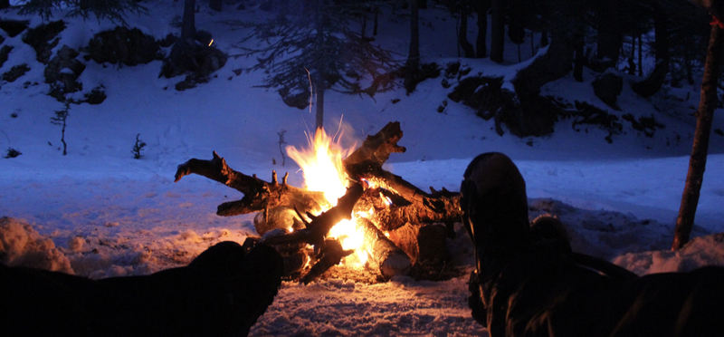Tips for New Year's Camping H2 Lights Cold Snow Winter Happy