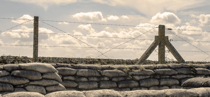 Remembrance Sunday - Visit Belgium H2 Trenches Cloudy War Barbed Wire