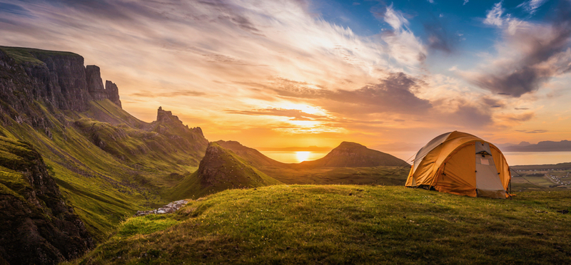 What to do in Scotland during October Half Term Holidays H2 Tent Camping Beautiful Nature Sun