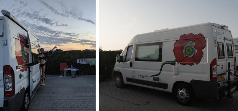 Goboony Friesland Campervan Motorhome H2 Frisian Netherlands Sunset