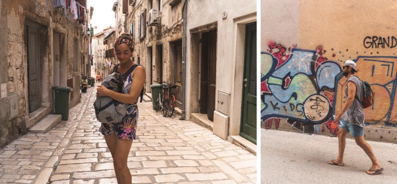 Goboony Desi en Leroy in Kroatië Rovinj