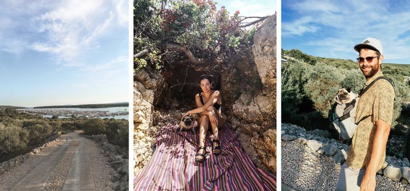 Goboony Desi en Leroy in Kroatië Dog Beach