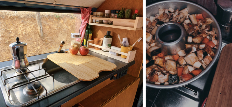 Goboony Campervan kitchen glamping h2 spices food