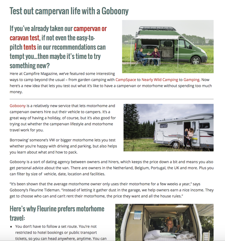 Goboony in the Media Campfire Magazine