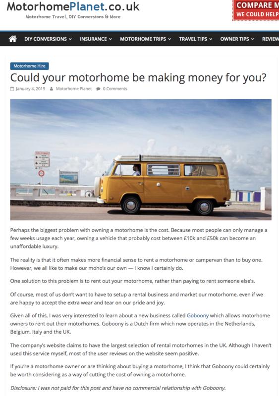 Goboony Media Motorhome Planet Money