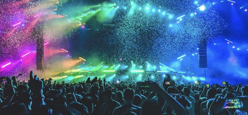 Goboony festival music concert h2 lights show