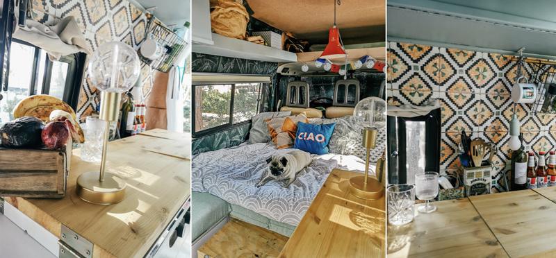 Goboony renovation campervan decoration kitchen bed H2 improvement diy