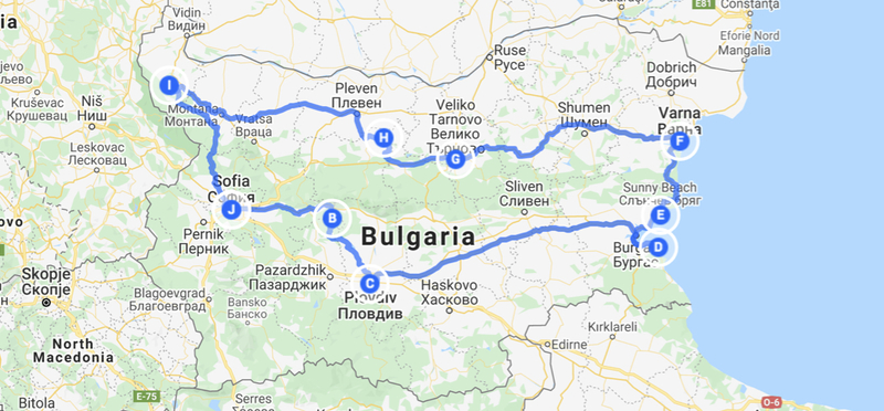 Goboony Bulgaria Road Trip Route Itinerary H2 Bulgarian