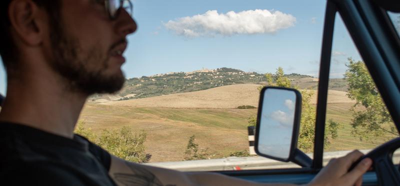 Goboony man driving road trip motorhome h2 campervan