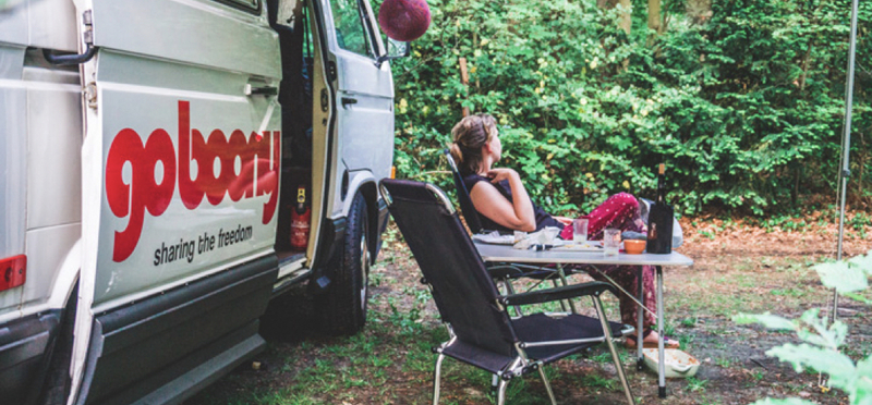 Goboony campervan woman camping h2 vw