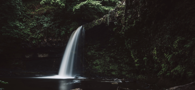 Goboony Waterfall Wales Walking Route H2