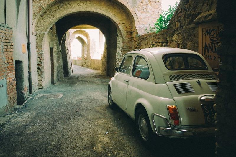 Op vakantie met de camper naar Italië Fiat 500