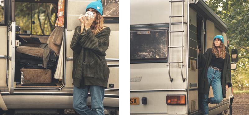 Goboony motorhome campervan girl h2 woman coffee camping
