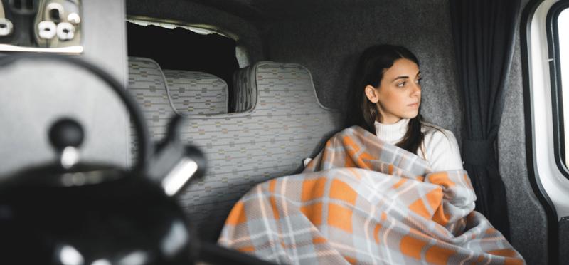 Goboony campervan motorhome comfortable woman h2 kettle vanlife