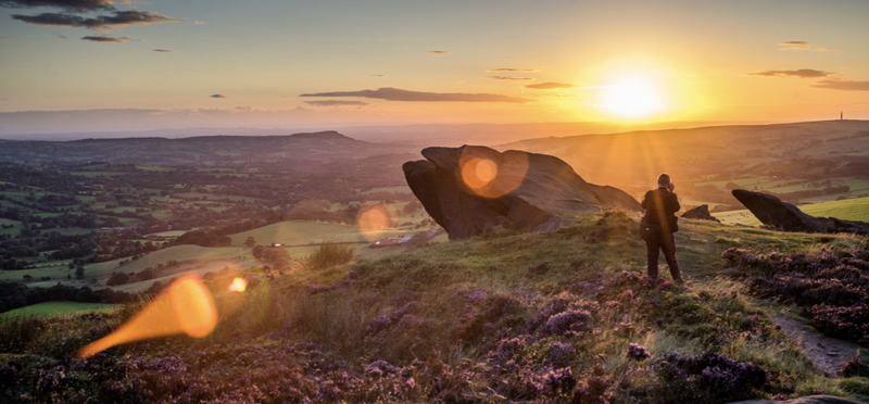 goboony nature peak district sunset h2 camping campsites