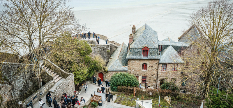 Goboony Mont St Michel village h2 town Normandy France