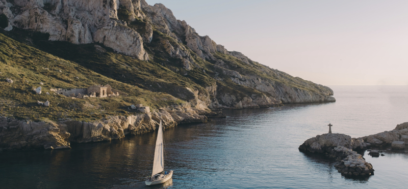 Goboony nature cliff water sailing h2 france