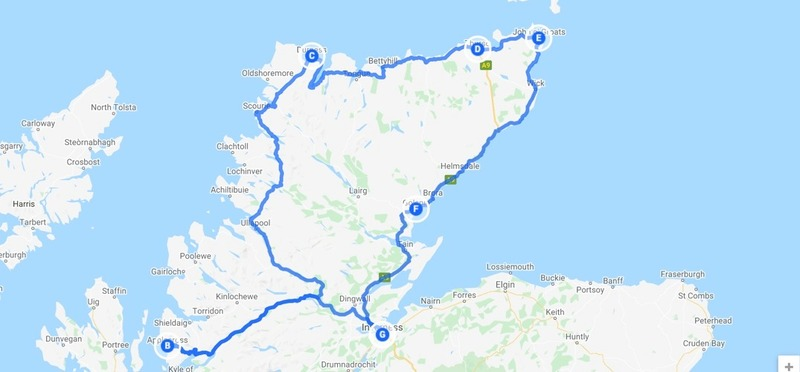 Goboony The North Coast 500 route