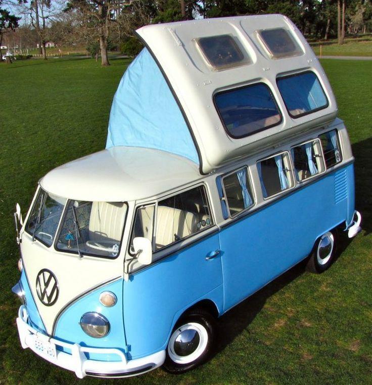 VW Bus mit aufklappbarem Dach